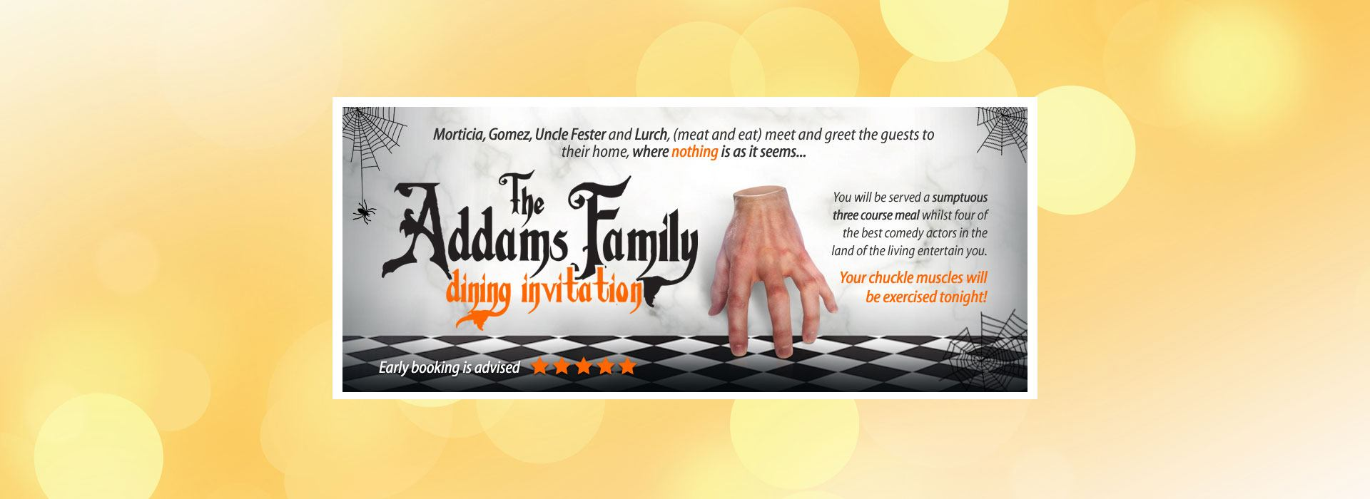The Adams Family from Comedy Dining