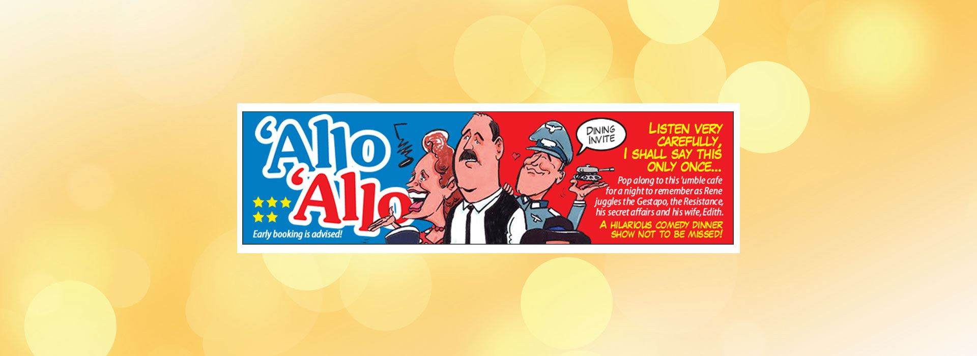 Allo Allo from Comedy Dining