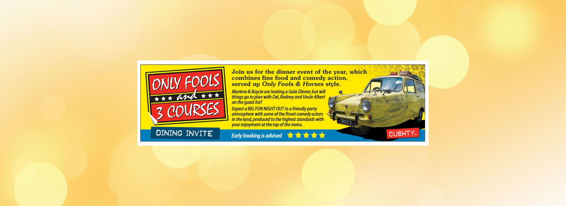 Only Fools & 3 Courses from Comedy Dining