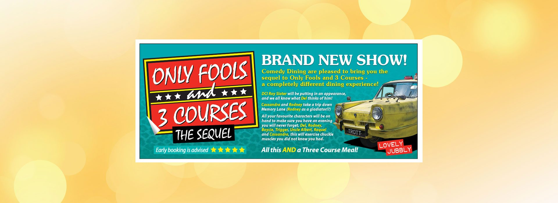Only Fools & 3 Courses Sequel from Comedy Dining